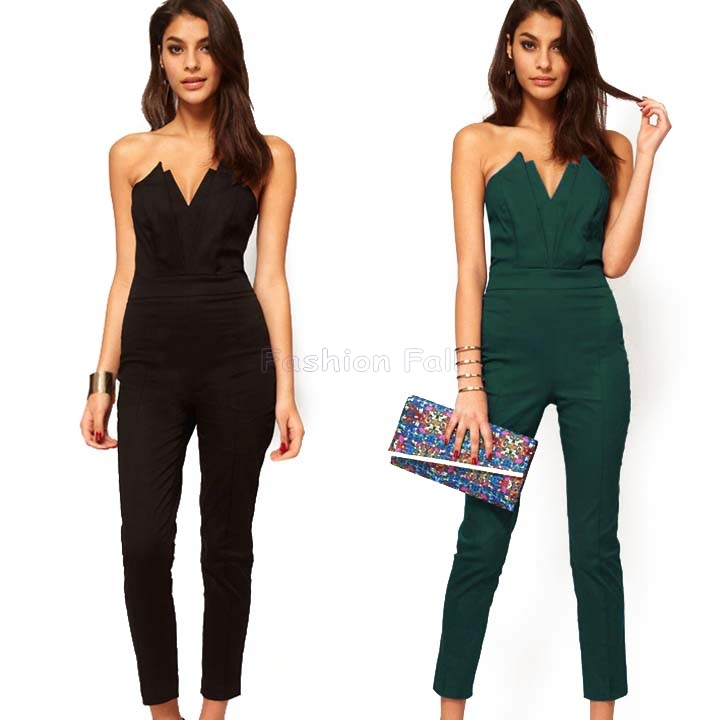 2015-Jumpsuit-Women-Summer-V-Neck-Bandage-Long-Overalls-Sexy-Plus-Size-Jumpsuits-And-Rompers-For